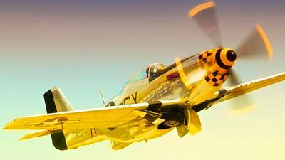 Planes Of Fame Photograph - Mustang Checkmate by Gus McCrea