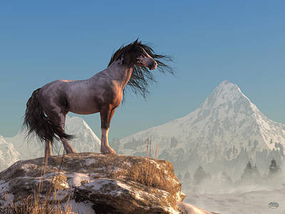 Digital Art - Mustang by Daniel Eskridge