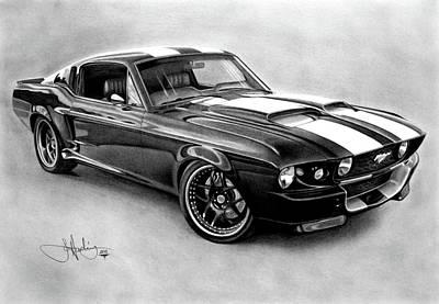 Mustang Gt-350 Art Print