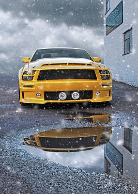 Photograph - Mustang Gtr In Snow by Gill Billington
