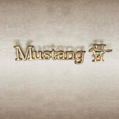 Photograph - Mustang II Chrome Emblem by YoPedro
