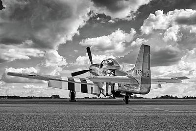 Photograph - Mustang In Black And White by Chris Buff