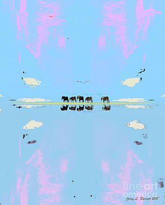 Mixed Media - Mustang Island by Jerry L Barrett