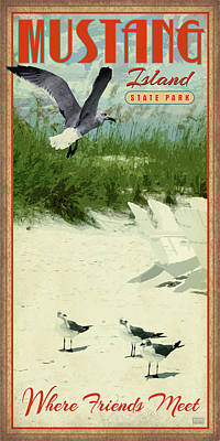 Mustang Island State Park Art Print
