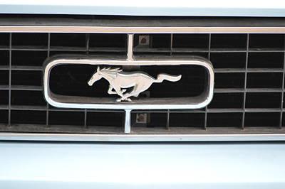 Photograph - Mustang Logo by Bonfire Photography