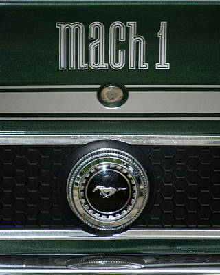 By Thomas Woolworth Photograph - Mustang Mach 1 Emblem by Thomas Woolworth