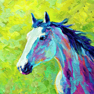 Rodeo Painting - Mustang by Marion Rose