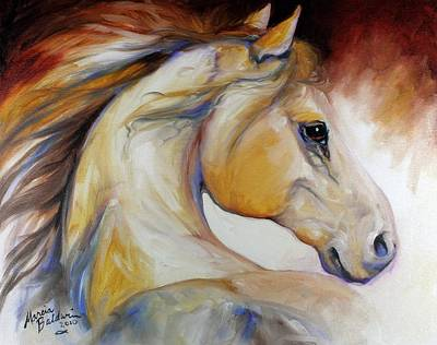 Wild Horse Painting - Mustang Named Wind by Marcia Baldwin