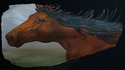 Painting - Mustang by Nancy Lauby