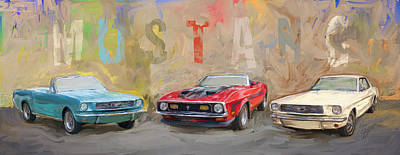 Eduardo Tavares Royalty-Free and Rights-Managed Images - Mustang Panorama Painting by Eduardo Tavares