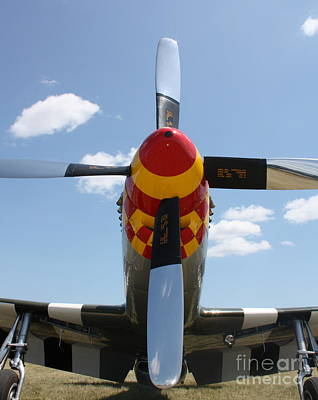 Photograph - Mustang Propeller by Bill Lang