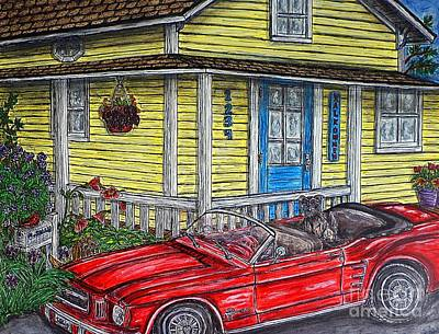 Painting - Mustang Sallys' Place by Kim Jones