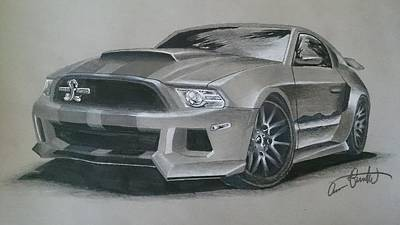 Cobra Mixed Media - Mustang Shelby Cobra Gt 500 by Aaron Theartguy