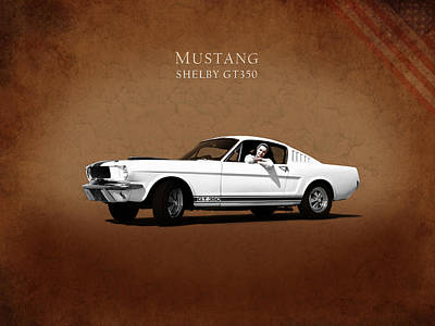 Mustang Shelby Gt 350 Art Print by Mark Rogan