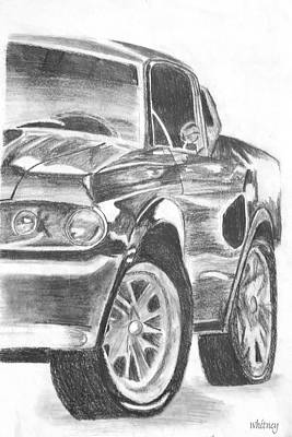 Sport Car Drawing - Mustang by Melisa Meyers