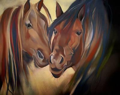 Pastel - Mustangs by Marika Evanson