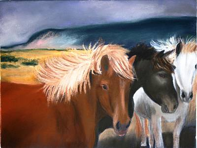 Pastel - Mustangs2 by Michele Turney