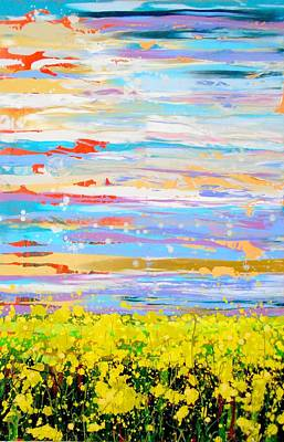 Painting - Mustard Field Study by Angie Wright