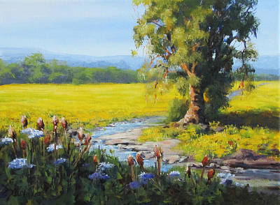 Painting - Mustard In Bloom by Karen Ilari