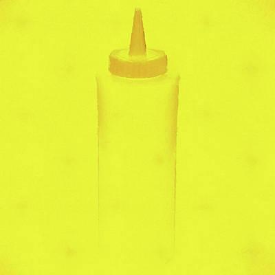 Hamburger Mixed Media - Mustard Pop Art by Dan Sproul