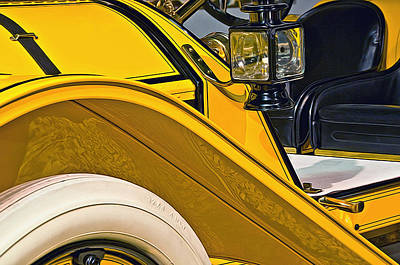 Photograph - Mustard Roadster by Maria Coulson