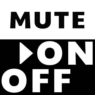 Mute On Off- Art By Linda Woods Art Print by Linda Woods