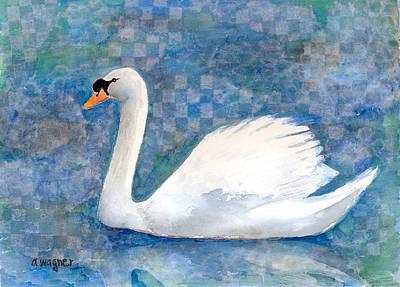 Swan Mixed Media - Mute Swan by Arline Wagner