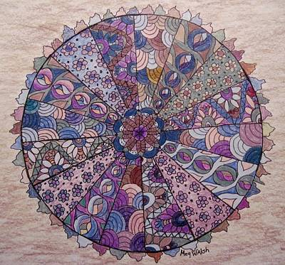 Drawing - Muted Mandala by Megan Walsh