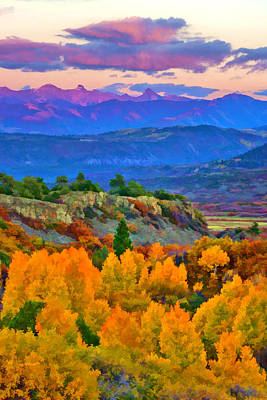 Muted Sunset Colors Of Autumn Art Print