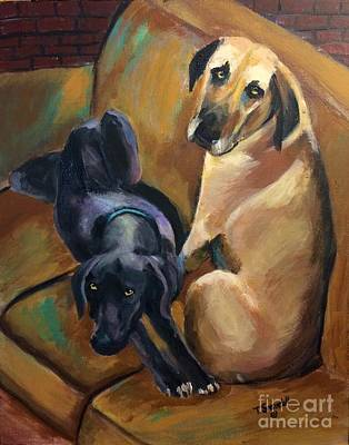 Painting - Mutt And Jeff by Tina Swindell