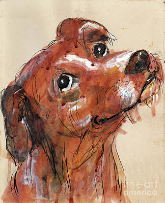 Mutt Art Print by Doris Blessington