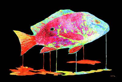 Lionfish Painting - Mutton Snapper Black Back by Ken Figurski
