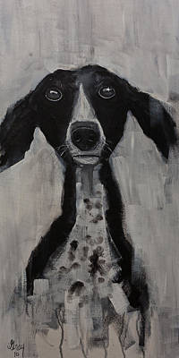 Painting - Mutts Original Dog Portrait Painting by Gray Artus