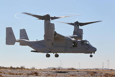 First Division Painting - Mv-22b Osprey Tilt-rotor Aircraft  by Celestial Images