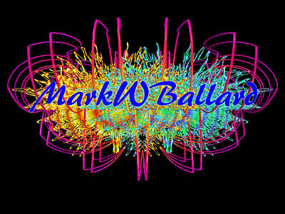 Expressionism Digital Art Drawing - Mwblogo_signature1 by Mark W Ballard