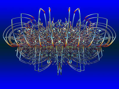 Expressionism Digital Art Drawing - Mwblogo_spaceship by Mark W Ballard