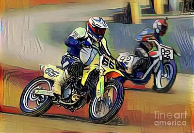 Abstract Graphics - MX Racing  by Douglas Sacha