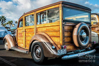 Photograph - My 1937 Woodie by David Levin