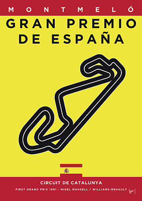 Edition Digital Art - My 2017 Gran Premio De Espana Minimal Poster by Chungkong Art