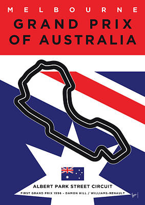 Track Team Digital Art - My 2017 Grand Prix Of Australia Minimal Poster by Chungkong Art