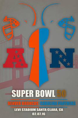 My 2nd Super Bowl Broncos Panthers Art Print by Joe Hamilton