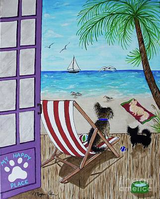 Florida Painting - My 3 And The Sea by Megan Cohen