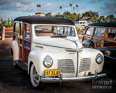 Photograph - My '40 Cream White Woodie by David Levin