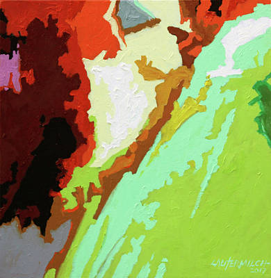 Painting - My Abstract Palette by John Lautermilch