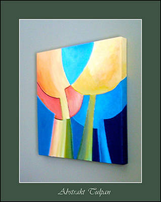Painting - My Abstract Tulip by Carola Ann-Margret Forsberg