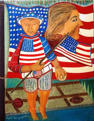 Independance Day Painting - My America by Angelo Ingargiola