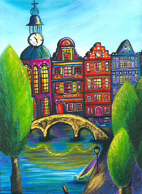 My Amsterdam Art Print by Beryllium Canvas