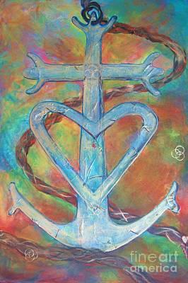 My Anchor Art Print by Deb Magelssen