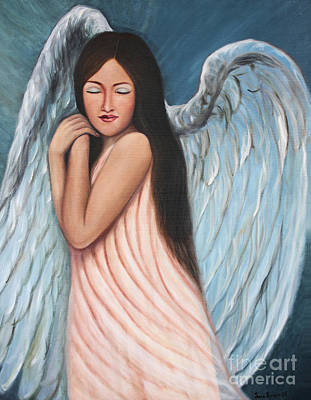 My Angel In Blue Art Print