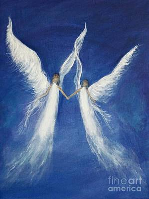 Painting - My Angels by Leslie Allen